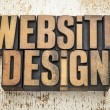 Website design in wood type — Stock Photo #28178851