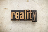 Reality word in wood type — Stock Photo
