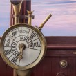 Stock Photo: Engine controls on ship brisge