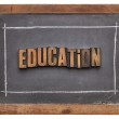 Education word in wood type — Stock Photo