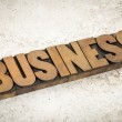 Business word in wood type — Stock Photo