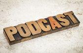 Podcast - internet broadcasting concept — Stock Photo