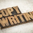 Copywriting word in wood type — Stock Photo #28492489