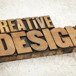 Creative design in wood type — Stockfoto