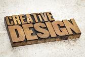 Creative design in wood type — Stock Photo