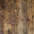 Stock Photo: Vandal graffiti on wood wall