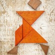 Tangram dancer figure — Stock Photo