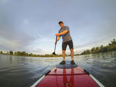 Stand up paddling — Stock Photo