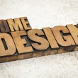 Home design in wood type — Stock Photo