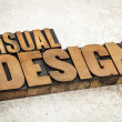 Visual design in wood type — Stock Photo