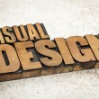 Visual design in wood type — Stock Photo #29252951