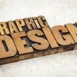 Graphic design in wood type — Stock Photo