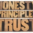 Honesty, principles and trust — Stock Photo #29283309