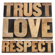 Stock Photo: Trust, love and respect