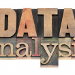 Data analysis in wood type — Stock Photo