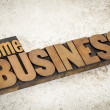 Home business in wood type — Stock Photo