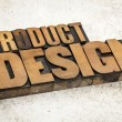 Product  design in wood type — Stock Photo