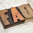 Foto de Stock  : Frequently asked questions - FAQ