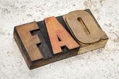 Veelgestelde vragen - faq — Stockfoto