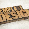 Template design in wood type — Stock Photo #29650993
