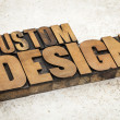 Custom design in wood type — Foto de Stock