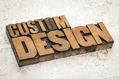 Custom design in wood type — Stock Photo
