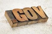 Dot gov internet domain — Stock Photo