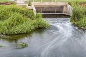 Cleaned sewage flowing — Stock Photo