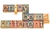 Enjoy being different — Stock Photo