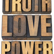 Truth, love and power — Stock Photo