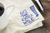Go the extra mile — Stockfoto