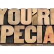 Stock Photo: You are special in wood type