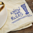 Stock Photo: Know rules