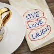 Stock Photo: Live, love, laugh