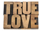 True love in wood type — Stock Photo