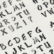 Rubber stamp alphabet — Stock Photo
