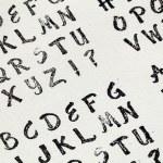 Rubber stamp alphabet — Stock Photo