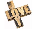 Liebe und freude-kreuzworträtsel — Stockfoto