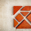 Wooden tangram puzzle — Stock Photo