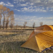 Early spring camping in Wyoming — Stock Photo