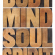 Stock Photo: Body, mind, soul and spirit