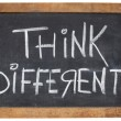 Think different on blackboard — Lizenzfreies Foto
