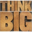 Think big in wood type — Stockfoto
