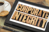 Corporate integrity on digital tablet — Stock Photo