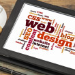Web design word or tag cloud — Stockfoto #34723897