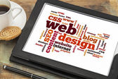 Web design word or tag cloud — Stockfoto