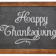 Happy Thanksgiving on blackboard — Stock Photo