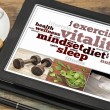Vitality concept on digital tablet — Stock Photo