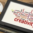 Creativity word cloud — Stock fotografie