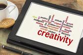 Creativity word cloud — Stock Photo